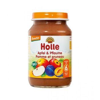 Пюре с яблоком и сливой с 6 месяцев Holle, 190 г