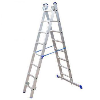 купить Лестница алюмюминевая двухстороная VHR TK 2x10 2730/4550 мм в Кишинёве