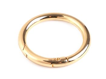 Inel carabină, Ø32 mm / auriu