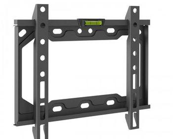 "TV-Wall Mount for 23-42"" - PureMounts ""BT200"", Tilted, up to 35kg, Tilt: 0/ -14°,  25mm wall distance, max.VESA 200x200, Steel black"
