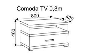 Комод под ТВ Duet 80 mm Mocca Creme