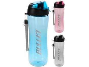 Бутылка питьевая 0.7l с дозатором, пластик, 3 цвета