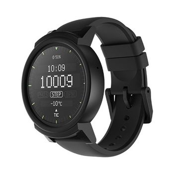 "Mobvoi  Ticwatch E  Shadow Black, 1.4"" OLED Touch Display, Wear OS by Google, 512MB/4GB, Time, Mic/Speaker for incoming calls, Heart Rate, Steps, Alarm, Distance Display, Average Daily Steps, Weather, Notifications, IP67, 48Hrs+, BT4.1, 41.5g"