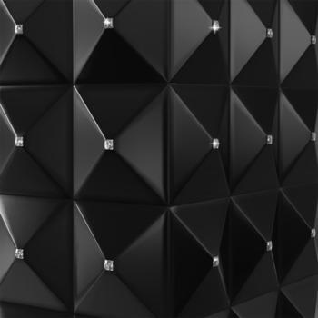 купить Биокамин - EGZUL черный матовый с кристаллами Swarovski напольный в Кишинёве