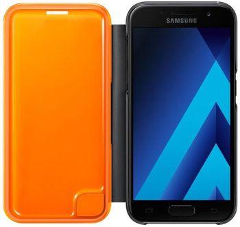 купить Чехол для моб.устройства Samsung EF-FA320, Galaxy A3 2017, Neon Flip Cover, Black в Кишинёве