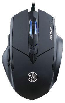 "MARVO ""Ice Dragon BRG-130"", Gaming Mouse, 800/1200/1600/2400dpi adjustable, Optical sensor, 6 buttons, blue color lighting, Braided cable, USB, Black"