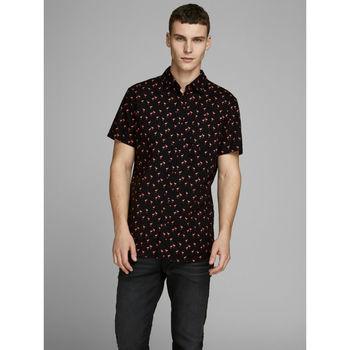 Рубашка JACK&JONES Черный с принтом 12165140