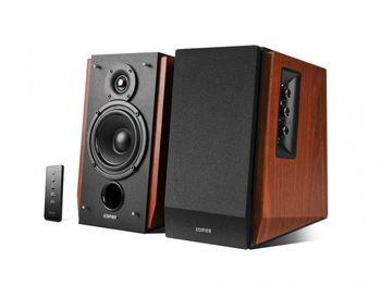"Edifier R1700BT (Bluetooth) Wood, 2.0/ 66W (2x33W) RMS,  Audio in: Bluetooth & 2 analog (RCA), remote control, wooden, (4""+3/4"")"