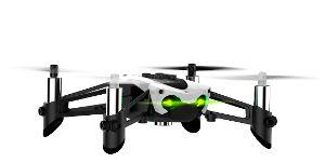 (40900) Parrot Mambo - Minidrone, 0.3MP, 60fps vertical camera, Cannon+50 balls, Grabber, max. 20m/60m-smartphone/flypad radius, flight time 9 min/ 5mps speed, Battery 550 mAh, 63g, White-Black