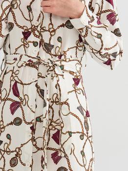 Платье RESERVED Белый с принтом wm924-01x