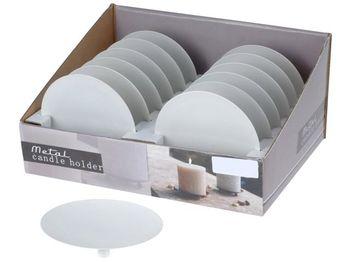 Подставка-тарелка для свечей на ножках D12cm,металл