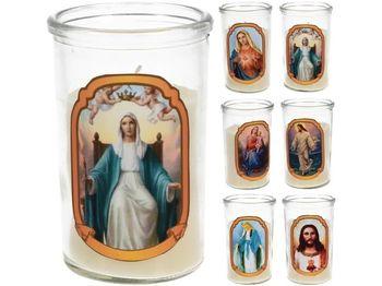 Свеча в стекл стакане с рисунком 6.2X10cm