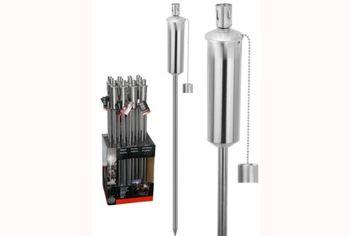 Факел садовый H160cm, нержавеющая сталь