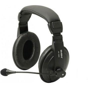 SVEN AP-860MV, Headphones with microphone, Volume control, 2 m, Black