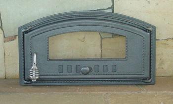 купить Дверца чугунная со стеклом правая DCH4 в Кишинёве