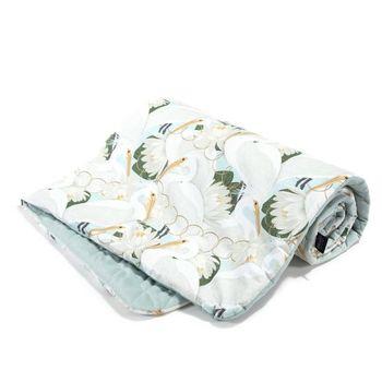 Одеялко La Millou Heron In Cream Lotus / Smoke Mint 100x80