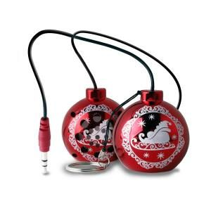 "Puro SPXMASRED Speaker ""Christmas ball"", red with Xmas sock pack"