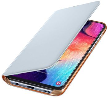 купить Чехол для моб.устройства Samsung Galaxy A505 EF-WA505 Wallet Cover, White в Кишинёве