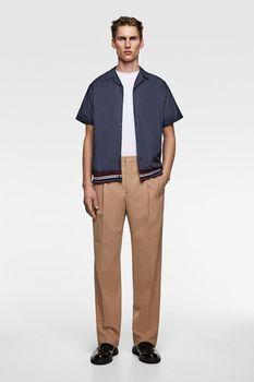 Рубашка ZARA Темно синий 3717/313/401.