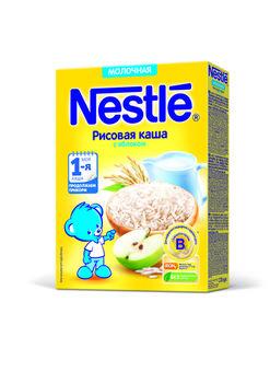 cumpără Nestle terci de orez cu lapte și mere, 4+ luni, 220 g în Chișinău