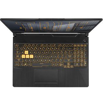 """Laptop 15.6"""" ASUS TUF Gaming F15 FX506HC, Intel i5-11400H 2.7-4.5GHz/8GB DDR4 3200/M.2 NVMe 512GB SSD/GeForce RTX3050 4GB GDDR6/WiFi 6 802.11ax/BT5.1/USB Type C/HDMI/Backlit RGB Keyboard/15.6"""" FHD IPS LED-backlit 144Hz (1920x1080)/NoOS/Gaming FX506HC-HN011"""