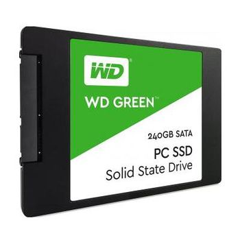 "2.5"" SSD 240GB  Western Digital WDS240G1G0A  Green™, SATAIII, Sequential Reads: 540 MB/s, Sequential Writes: 465 MB/s, Max Random 4k: Read: 63,000 IOPS / Write: 68,000 IOPS, 7mm, Silicon Motion SM2256S controller, NAND TLC"