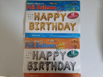 """Balon """"Happy Birthday"""" auriu"""
