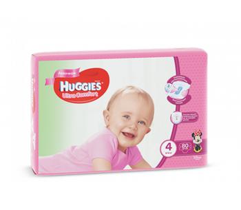 cumpără Huggies scutece Ultra Comfort 4 pentru fetițe, 8-14 kg,80 buc. în Chișinău