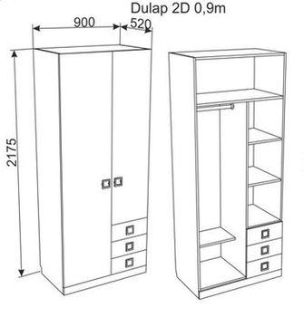 Шкаф  2Д Аmigo 0,9м