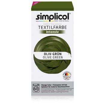 SIMPLICOL Intensiv - Oliv-Grün, Vopsea pentru haine si textile in masina de spalat, Oliv-Grün