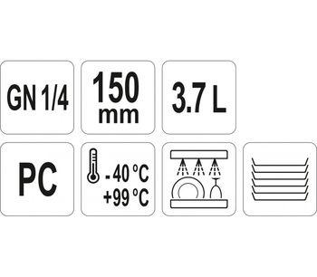 cumpără Recipient GN 1/4 150 mm PC în Chișinău