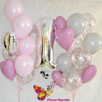 купить Набор из гелиевых шаров с цифрой в Кишинёве