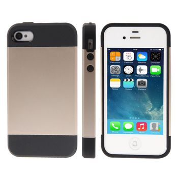 Чехол SGP Tough Armor пластик + силикон комбинированный iPhone 4 / 4S золотой