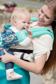 купить Эрго рюкзак NapBag by Bagy Mint Garden в Кишинёве
