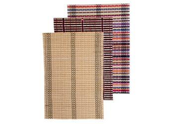 "Салфетка сервировочная бамбуковая 45X30cm ""Шахматное плетен"""