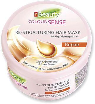 Mască pentru păr uscat și deteriorat, SOLVEX MMBeauty Colour Sense, 490 ml.,  REPAIR - restabilire