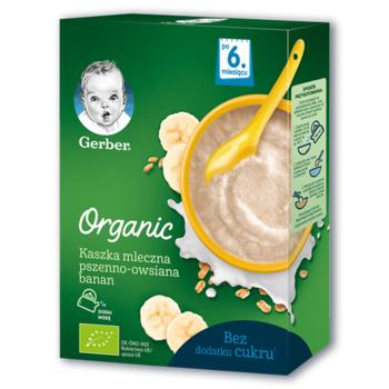 cumpără Gerber terci organic de grâu și ovăz cu lapte și banane 6+ luni, 240 g în Chișinău