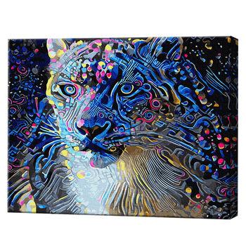 Цветастый зверь, 40х50 см, картина по номерам