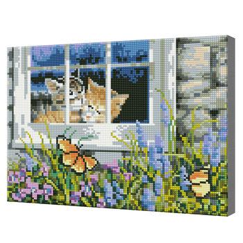 Клумба под окном, 30х40 см, алмазная мозаика Артукул: QS200103