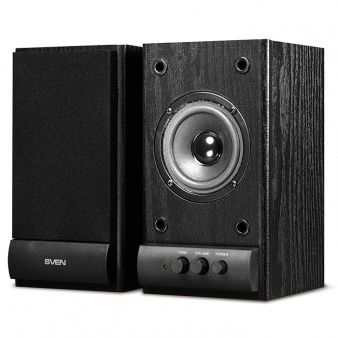 Speakers SVEN SPS-607 Black,  2.0 / 2x3W RMS, wooden, 3""