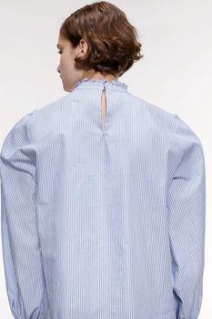 Блуза ZARA Голубой в полоску 4043/051/104