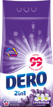 Стиральный порошок Dero Лаванда и Жасмин, 8 кг.