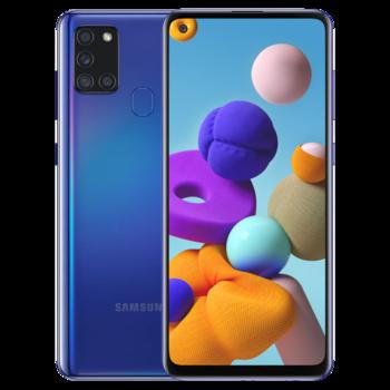купить Samsung Galaxy A21s 2020 3/32Gb Duos (SM-A217), Blue в Кишинёве
