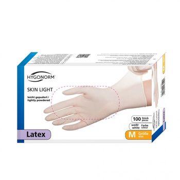 Перчатки LATEX SKIN LIGHT, размер M, NATURAL, 100шт, HYGOSTAR, FM