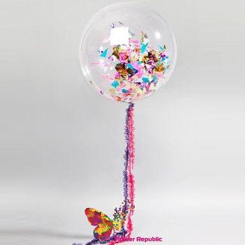купить Большой латексный прозрачный шар 91 см с гирляндой Simple 1,5 м в Кишинёве