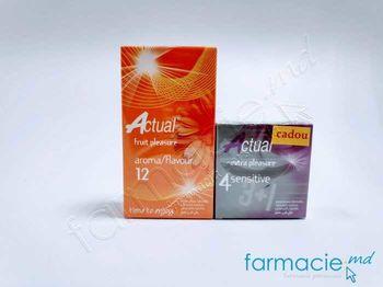 купить Prezervative Actual N12 Aromate + Prezervative Actual N4 Sensitive (Cadou) в Кишинёве