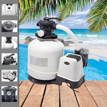 купить Intex песочный фильтр насос с хлоргенератором Кrystal Clear 12000 л/ч в Кишинёве