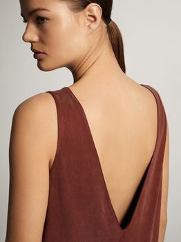 Платье Massimo Dutti Кирпичный 6628/915/614