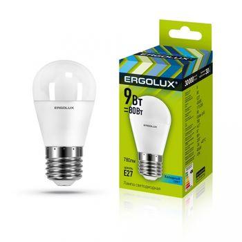 Лампа энергосберегающая Ergolux G45 9W E27 45K