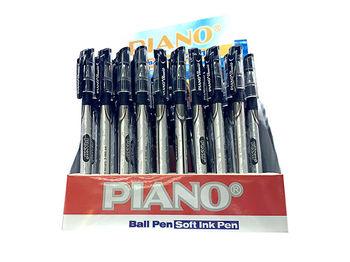 Ручка шариковая PT-195 soft ink,0.7mm, черная